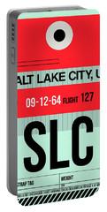 Slc Salt Lake City Luggage Tag I Portable Battery Charger