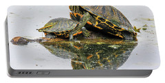 Slider Turtle Reflections Portable Battery Charger