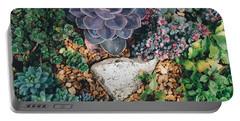 Small Succulent Garden Portable Battery Charger