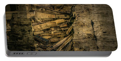 Smashed Wooden Wall Portable Battery Charger