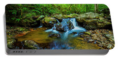 Portable Battery Charger featuring the photograph Smith Creek Cascade by Andy Crawford