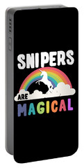 Portable Battery Charger featuring the digital art Snipers Are Magical by Flippin Sweet Gear