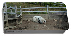 Snoozing Hog Portable Battery Charger