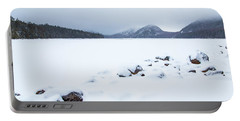 Snow Cover Jordan Pond Portable Battery Charger