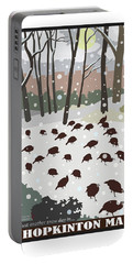 Snow Day In Hopkinton Portable Battery Charger
