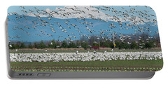 Snow Geese Wildlife Mt Baker Landscape Nature Portable Battery Charger
