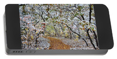 Snow Greets Autumn Portable Battery Charger