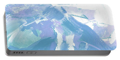 Portable Battery Charger featuring the painting Snow by John Jr Gholson