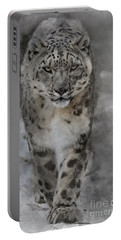 Portable Battery Charger featuring the photograph Snow Leopard II by Brad Allen Fine Art