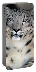 Snow Leopard Portrait Endangered Species Wildlife Rescue Portable Battery Charger