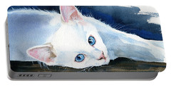 Snow White - Cat Painting Portable Battery Charger