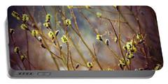 Snowfall On Budding Willows Portable Battery Charger