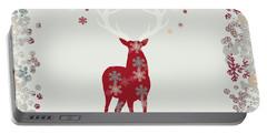 Snowflake Christmas Stag II Portable Battery Charger