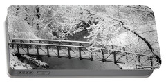 Snowy Bridge On Mill Creek Portable Battery Charger