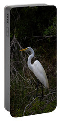 Great Egret On A Hot Summer Day Portable Battery Charger