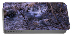 Snowy Forest With Long Exposure Portable Battery Charger