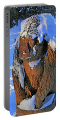 Snowy Gorilla Portable Battery Charger