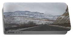 Snowy Mountain Road Portable Battery Charger