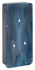 Portable Battery Charger featuring the painting Snowy Night by Maria Langgle