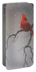 Snowy Perch Portable Battery Charger