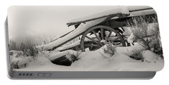 Snowy Rollback Through Time Portable Battery Charger