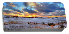 Portable Battery Charger featuring the photograph Snowy Sunset by David Patterson