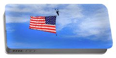 Portable Battery Charger featuring the photograph Socom Flag Jump by Doug Camara