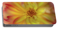 Portable Battery Charger featuring the photograph Soft Curves Dahlia by Mary Jo Allen