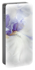 Softness Of A Lavender Iris Flower Portable Battery Charger