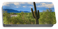 Sonoran Desert Landscape Post-monsoon Portable Battery Charger