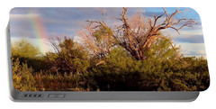 Sonoran Desert Spring Rainbow Portable Battery Charger