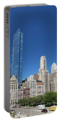 South Michigan Avenue From The Art Institute Of Chicago, Chicago Portable Battery Charger