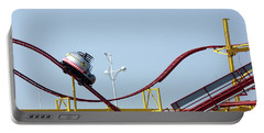 Southport.  The Fairground. Crash Test Ride. Portable Battery Charger