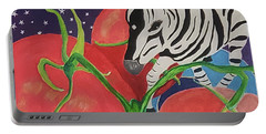 Space Zebra Portable Battery Charger