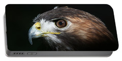 Portable Battery Charger featuring the photograph Sparkle In The Eye - Red-tailed Hawk by Debi Dalio