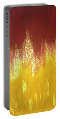 Portable Battery Charger featuring the painting Sparky  by Alisha Anglin