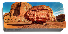 Portable Battery Charger featuring the photograph Spearhead Mesa's Balancing Rock by Andy Crawford