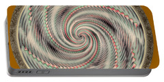 Portable Battery Charger featuring the photograph Spinning A Design For Decor And Clothing by John M Bailey