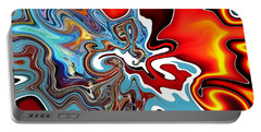 Portable Battery Charger featuring the digital art Splash by A zakaria Mami