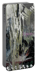 Portable Battery Charger featuring the painting splash stripe II by John Jr Gholson