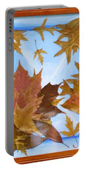 Splattered Leaves Portable Battery Charger
