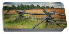 Portable Battery Charger featuring the photograph Split-rail Fence by Travis Rogers