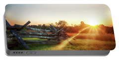 Portable Battery Charger featuring the photograph Split-rail Sunset by Travis Rogers