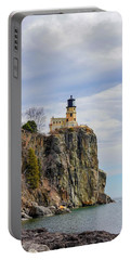 Split Rock Lighthouse Portrait Portable Battery Charger