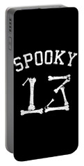 Spooky 13 Halloween Jersey Portable Battery Charger