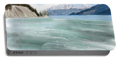 Spring Break The Alaska Highway At Muncho Lake Portable Battery Charger