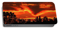 Springport, Michigan Sunset 4289 Portable Battery Charger