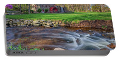 Springtime At The Grist Mill Portable Battery Charger