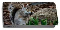 Squirrel And His Dinner Portable Battery Charger