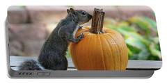 Squirrel And Pumpkin Portable Battery Charger